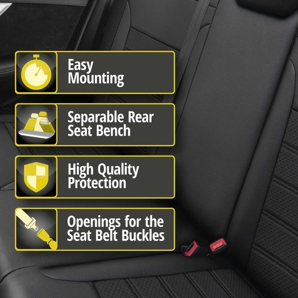 Seat cover 'Expedit' for Seat Leon year of construction 2013 until today - 1 rear Seat cover for normal seats