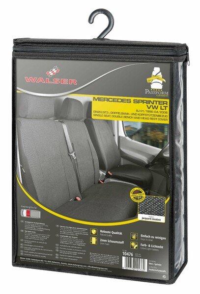 Housse de siège Transporter en tissu pour VW LT, Mercedes Sprinter, siège simple et double