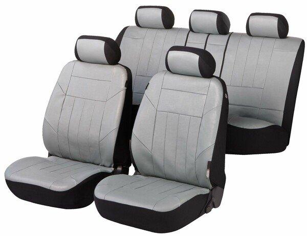 Autositzbezüge Soft Nappa grau aus Kunstleder
