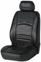 Car Seat cover Ranger made of real leather black