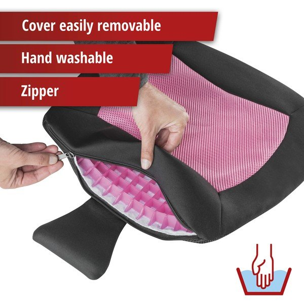 Seat cushion Cool Touch black-pink
