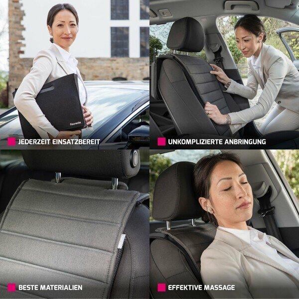 Faurecia Smart Massage Cover, Auto-Massage-Sitzauflage mit App Steuerung und integriertem Akku, zertifiziert von der Aktion Gesunder Rücken